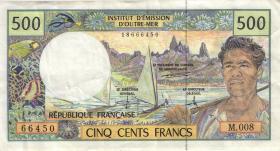 Frz. Pazifik Terr. / Fr. Pacific Terr. P.01 500 Francs (1992-2003) (3)