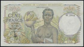 Franz. Westafrika / French West Africa P.40 100 Francs 1948 (2)