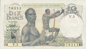 Franz. Westafrika / French West Africa P.37 10 Francs 1946-54