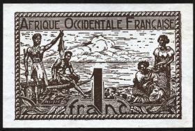 Franz. Westafrika / French West Africa P.34 1 Franc (1944)