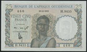 Franz. Westafrika / French West Africa P.38 25 Francs 1952 (1)