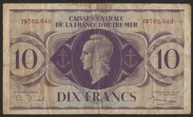 Fra.-Äquatorialafrika/F.Equatorial Africa P.16 10 Francs 1944