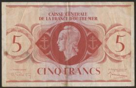 Fra.-Äquatorialafrika/F.Equatorial Africa P.15 5 Francs L. 1944