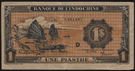 Franz. Indochina / French Indochina P.058 1 Piaster (1942-45) (3+)