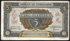 Franz. Indochina / French Indochina P.062 5 Piaster(1942-45) (3+)