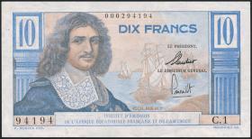 Fra.-Äquatorialafrika/F.Equatorial Africa P.29 10 Francs o.D. (2+)
