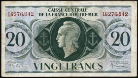 Fra.-Äquatorialafrika/F.Equatorial Africa P.17b 20 Francs L 1944