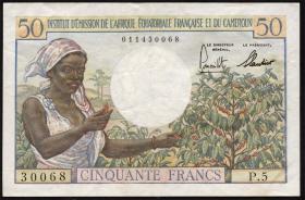 Frz.-Äquatorialafrika / F.Equatorial Africa P.31 50 Francs (2-)