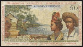 Franz. Antillen / French Antilles P.09b 50 Francs (1964) (4)