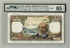 Franz. Antillen / French Antilles P.10b 100 Francs (1964)