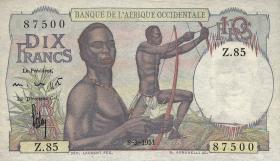 Franz. Westafrika / French West Africa P.37 10 Francs 1951 (1/1-)