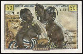Franz. Westafrika / French West Africa P.45 50 Francs 1956 (1)