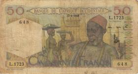 Franz. Westafrika / French West Africa P.039 50 Francs 1948 (4)