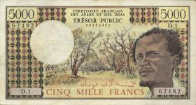Frz. Afars und Issas P.35 5000 Francs (1975) (2)