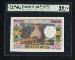 Frz. Afars und Issas P.32 1000 Francs (1974) (1/1-)