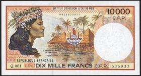 Frz. Pazifik Terr. / Fr. Pacific Terr. P.04b 10.000 Francs (1985) (1)