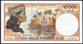 Frz. Pazifik Terr. / Fr. Pacific Terr. P.04e 10.000 Francs (1985) (1)