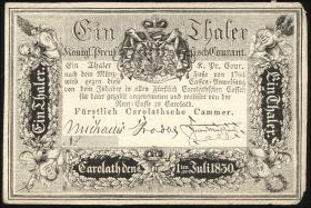 Preußen Fürstlich Carolathsche Kammer 1 Thaler 1830