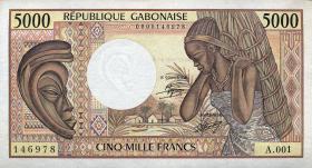 Gabun / Gabon P.06a 5000 Francs (1984) (1)