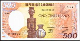 Gabun / Gabon P.08 500 Francs 1985 (1)
