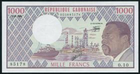 Gabun / Gabon P.03d 1000 Francs 1984 (1)