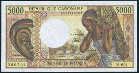 Gabun / Gabon P.06b 5.000 Francs (1991) (1/1-)