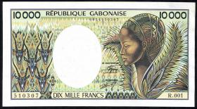 Gabun / Gabon P.07a 10.000 Francs (1984) (1)