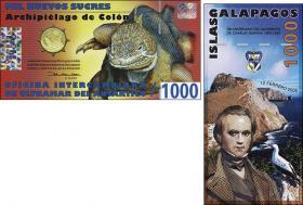 Galapagos 1000 Sucres 2009 Charles Darwin Polymer (1)