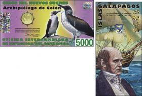 Galapagos 5000 Sucres 2009 Charles Darwin Polymer (1)