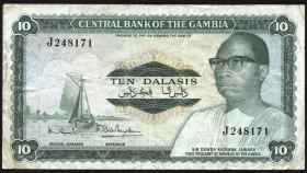 Gambia P.06c 10 Dalasis (1972-86) (3)