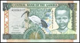 Gambia P.17 10 Dalasis (1996) (1)