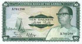 Gambia P.06a 10 Dalasis (1972-86) (1)