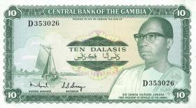 Gambia P.06b 10 Dalasis (1972-86) (1)