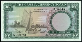 Gambia P.01a 10 Shillings (1965-70) (1)