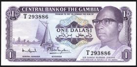 Gambia P.04f 1 Dalasi (1971-87) (1)