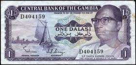 Gambia P.04b 1 Dalasi (1971-87) (3)