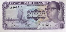Gambia P.04a 1 Dalasi (1971-87) (1)