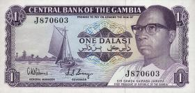 Gambia P.08 1 Dalasi (1978) Gedenkbanknote (1)