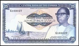 Gambia P.11b 25 Dalasis (1987-90) (1)