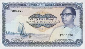 Gambia P.11c 25 Dalasis (1987-90) (1)