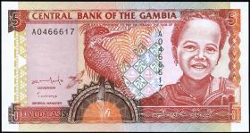 Gambia P.16 5 Dalasis (1996) (1)