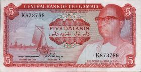 Gambia P.05b 5 Dalasis (1972-86) (1)