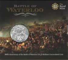Großbritannien 5 Pounds 2015 Schlacht von Waterloo