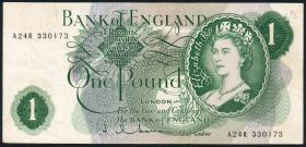 Großbritannien / Great Britain P.374c 1 Pound (1962-66) (3)
