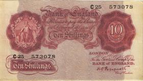 Großbritannien / Great Britain P.368a 10 Shillings (1948-49) (3+)