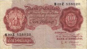 Großbritannien / Great Britain P.368c 10 Shillings (1955-60) (3)