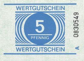 DDR Gefängnisgeld Serie A 5 Pfennig (1)
