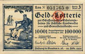Geld Lotterie Dresden 1921 (1-)