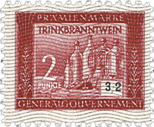 Generalgouvernement 2 Punkte Trinkbranntwein (1)