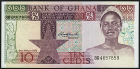 Ghana P.20d 10 Cedis 1982 (1)